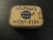 Ancienne Boite Métallique Pastilles Vichy Etat