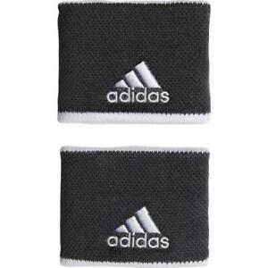 New adidas wristbands sweat bands tennis sports gym Dark Grey / White