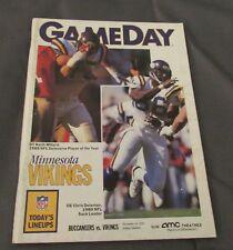 1990 Buccaneers vs. Minnesota Vikings Program Chris Doleman Keith Millard