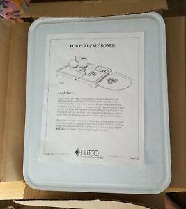 "Large light gray CUTCO Model 126 Poly Prep Board 12"" x 15"" [Cutting Board] NOB"