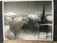 WWII Old Photo Of View Above Clouds