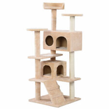 Cat Tree Tower Condo Furniture Scratch Post Kitty Pet House Play BeigeNew