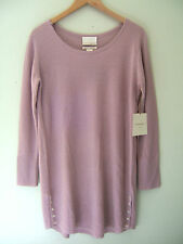 NWT Cynthia Rowley New York 100% Cashmere Luxurious Lounge Mauve Sweater L $260