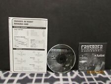 CRUSADER: NO REGRET CD + PLAY GUIDE + REFERENCE CARD 1996 BY ORIGIN