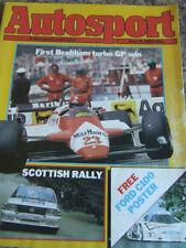 Autosport Weekly Cars, 1980s Transportation Magazines