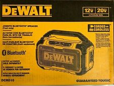 DEWALT DCR010 12V/20V MAX Jobsite Bluetooth Speaker New - SEALED BOX
