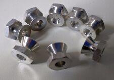 8 pcs  1/4-20 Break Away Nut Aluminium ~ Security, Tamper Resistant