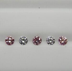 ARGYLE AUST PINK DIAMONDS- 0.155ct MATCHED SET 100% UNTREATED +CERT AVAILABLE