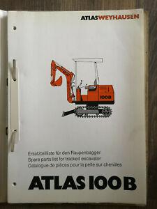 ATLAS 100B Ersatzteilliste für Raupenbagger