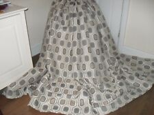 EXTRA WIDE HEAVY QUALITY 2 x PAIRS OF ABSTRACT DESIGN CURTAINS GREY TONES