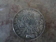Pièce de 5 francs en argent 1962