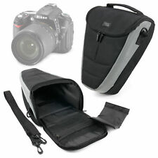 Hard Black Bag For Nikon D90, D300, D5000, P7700 SLR Cameras & Padded Neck Strap