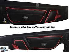 Can Am Maverick X3 XDS PRP door bags bag set of 2 Blk/Rd #E60-210R