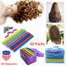 42 Pack Magic Twist Flex Flexi Rods Perm Foam Hair Curlers Roller Styling Tools