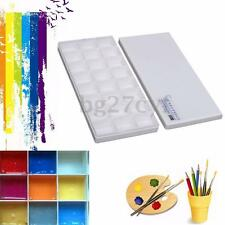 24 Grids Color Mixing Palette Oil Watercolor Painting Drawing Tray Plate Artist