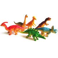 6pcs Large Assorted Dinosaurs Toy Plastic Figures Simulation Model Dinosaur CO