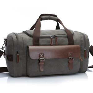Crossbody Travel Bags Men Large Capacity Canvas Shoulder Hand Luggage Duffel Bag