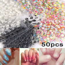 50 Sheets 3D Star Flower Nail Art Stickers Transfer Manicure Tips Decal Tool DIY
