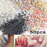 50 X Sheets 3D Design Nail Art Sticker Tips Decal Flower Manicure Stickers DIY