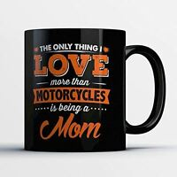 Motorcycle Mom Coffee Mug - Motorcycling Mom - Funny 11 oz Black Ceramic Tea Cup