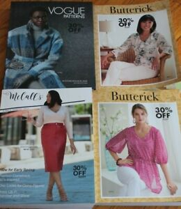McCalls,Simplicity Vogue Sewing Pattern Counter Books Catalogs Lot Of 4