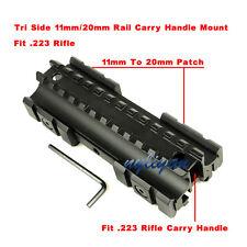 Metal See Thru 11mm/20mm Tri Side Rail Picatinny Weaver Rail base Mount 4 Rifle