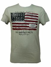 T-SHIRT UOMO CAT BALOU TG. S BANDIERA AMERICA U.S.A. FLAG MAGLIA MANICA CORTA