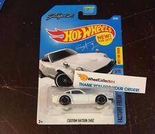 Custom Datsun 240Z #76 * WHITE * 2017 Hot Wheels * NF6