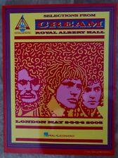 Cream Royal Albert Hall, Guitar Recorded Versions, Song Book, VERY RARE