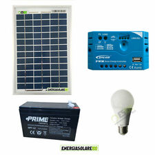 Solar lighting kit panel 10W 5 hours LED bulb lamp 7W 12V Home stable