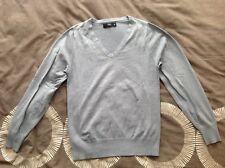 Next Mens/Boys Grey V-Neck XS Cotton Top/Jumper