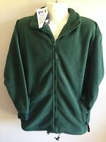 BNWT Boys//Girls Sz 14 LW Reid Bottle Green Long Sleeve Zip Neck School Jumper