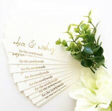 10x Wedding Advice Cards Newlyweds cards the bride and groom cards