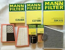 MANN-FILTER SET OIL FILTER AIR FILTER ACTIVATED CARBON FUEL 280 CDI 320 CDI S211