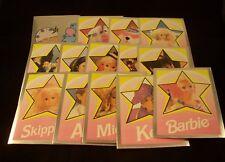 BARBIE Doll - Foil Sticker Set - Ken, Rosebud, Sachi, Midge ++