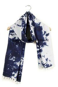 Femmes Long Coton Voile Main Tie And Dye Écharpe Cou Enveloppant Châle Écharpes