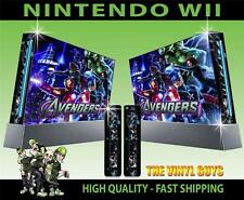 Nintendo Wii Autocollant Avengers Assemble Superheroes Skin & 2 Pad Stickers