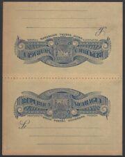 Honduras C3785:C3803 reply postal card 1893 3c+3c deep blue NOT FOLDED HG #23