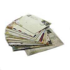 Mini Craft Stationery Message Card Best Wish Letter Paper Holder Envelope x12pcs