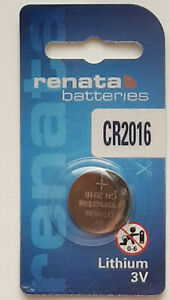 Renata Lithium CR2016 3V battery cell for Watches