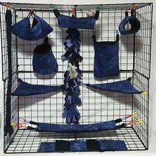 New listing Dark Purple Tie Dye*15 Pc Sugar Glider Cage set * Rat * double layer Fleece