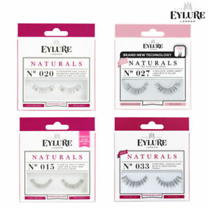 Eylure NATURAL False Reusable Eyelashes + Glue/Adhesive Lash Featherlight Feel
