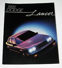 1985 Dodge Lancer Car Automobile Brochure  MINT