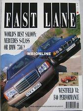 Fast Lane 05/1991 featuring Audi Quattro, S2, Mercedes 600SE, BMW, Westfield