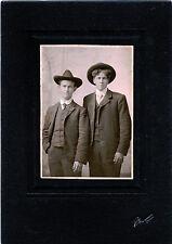 ANTIQUE PHOTO PORTRAIT OF TWO HANDSOME MEN & PETERBORO, ONT. CANADA STUDIO