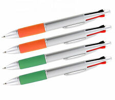 New Silver Top 4-Color Pen with Cushion Grip, 4-pc ( 2 pack )