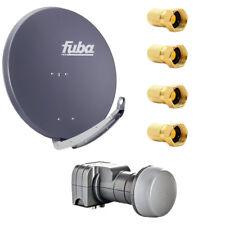 Fuba DAA 850 A SAT Anlage Set 85 cm Alu Anthrazit DEK 217 Twin LNB HDTV 4K 3D