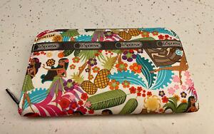 LeSportsac Hawaii Exclusive Wahine Hula Tiki Print Lily Continental Zip Wallet