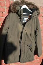 Superdry Mens Green Winter Khaki Everest Parka size 3 XL