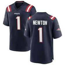 New England Patriots #1 Cam Newton Stitched Jersey navy blue